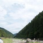 飯能市を流れる名栗川の川原で撮影した画像。