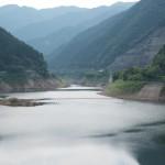 有間ダム(名栗湖)から上流の眺め