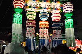 夜の竹飾り(狭山市公式ウェブサイトより)