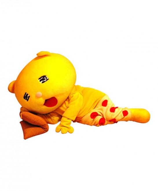 熊谷市マスコットキャラクター ニャオざね 寝転び画像