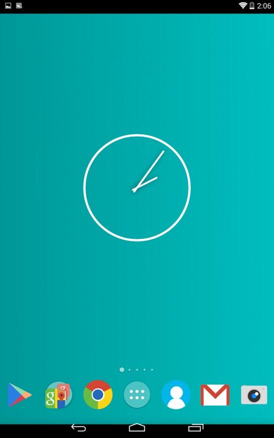 Nexus7(2013)へNova Launcher+Blitz (Icon Pack)を適用した参考画像その1