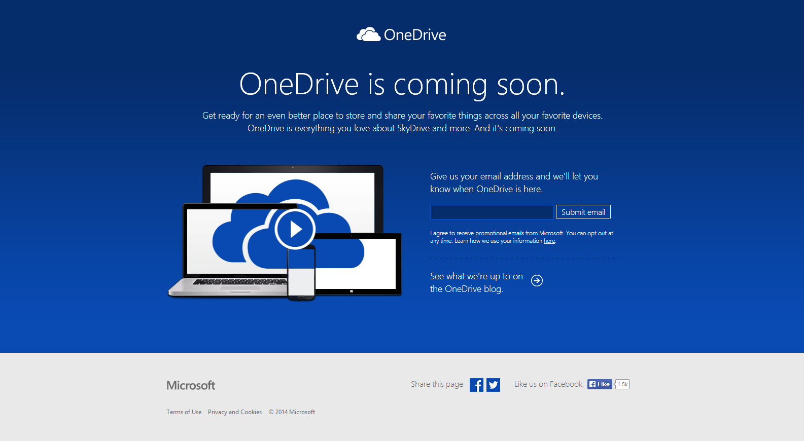 OneDrive is coming soon.