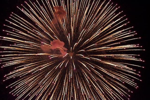 2012年、ひがしまつやま花火大会の写真