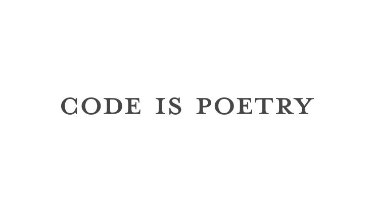 WordPress, Code is Poetry