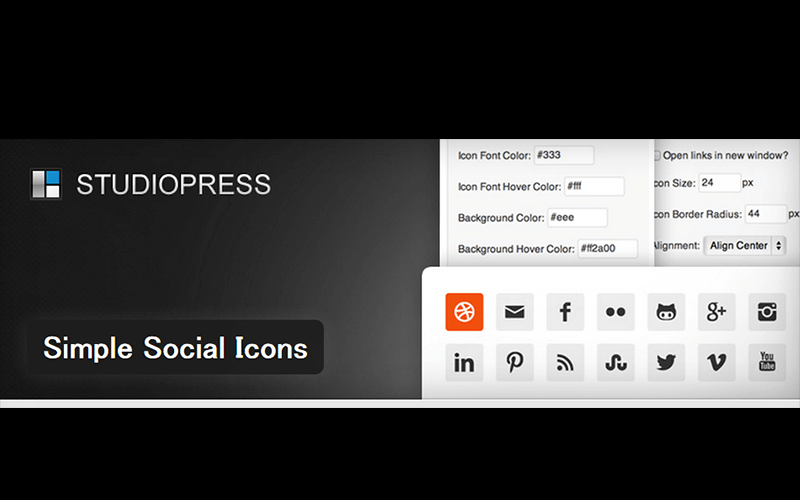 Simple Social Icons紹介ページ