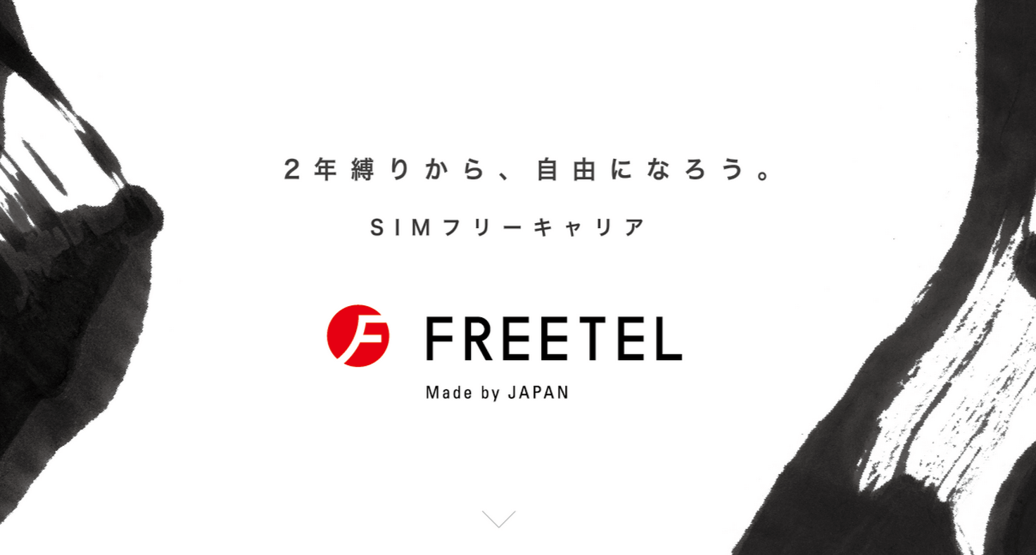 FREETEL Website画像