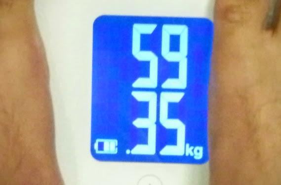 2015年8月26日の体重計数値画像