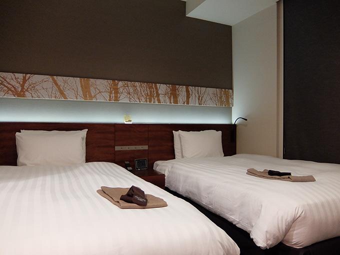 三井ガーデンホテル仙台、ツインルームベッド写真