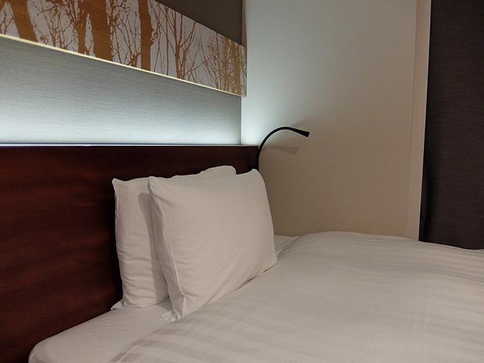 三井ガーデンホテル仙台、ベッドボードの間接照明