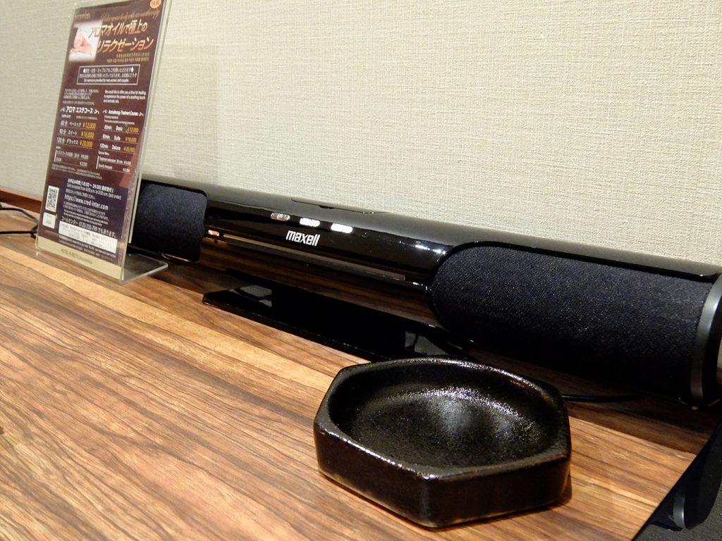 ホテルアール・メッツ宇都宮、スマホやiPod等がつなげられるスピーカーの写真