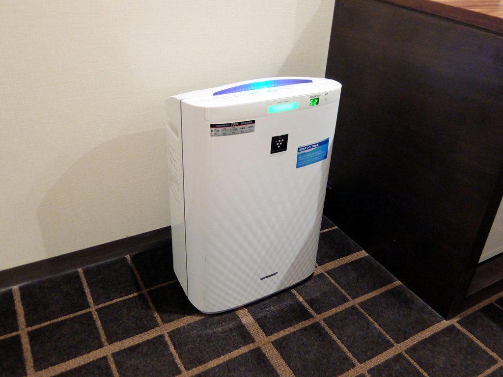 ホテルアール・メッツ宇都宮、プラズマクラスター加湿機能付き空気清浄機