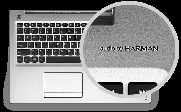 ideapad 510、Audio by HARMAN機能