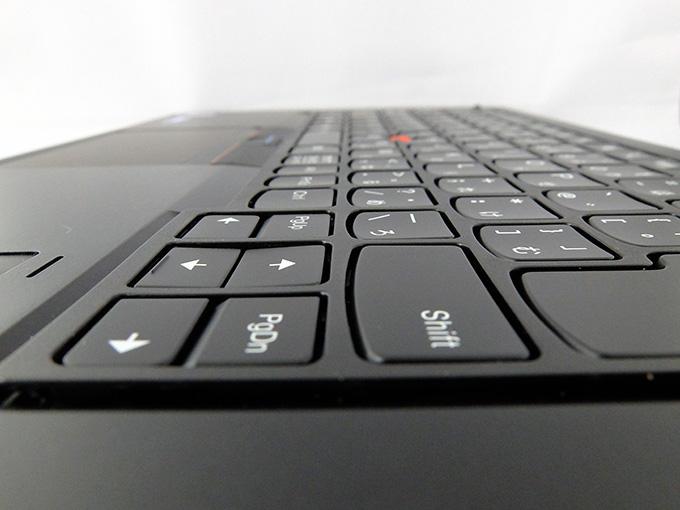 ThinkPad X1 Yoga、タブレットモードでのキー状態