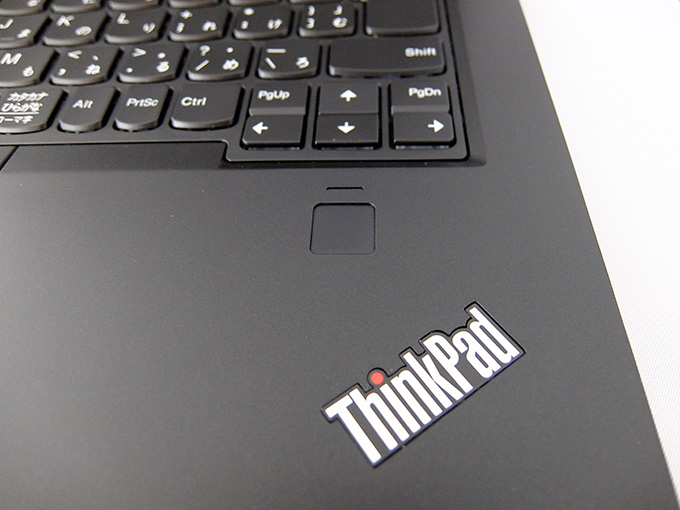 ThinkPad X1 Yoga、指紋センサー