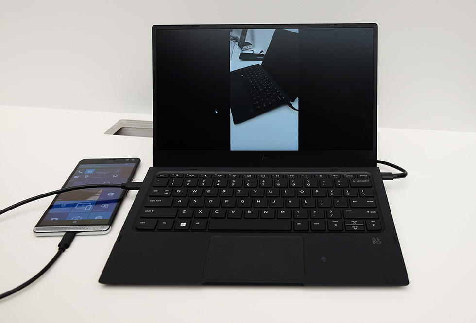 HP Elite x3で撮影した写真をノートドックに表示