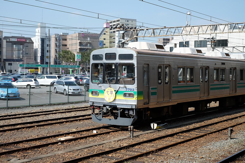 秩父鉄道熊谷駅に停車していた秩父鉄道の電車