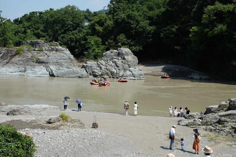 長瀞の岩畳入り口からの眺め