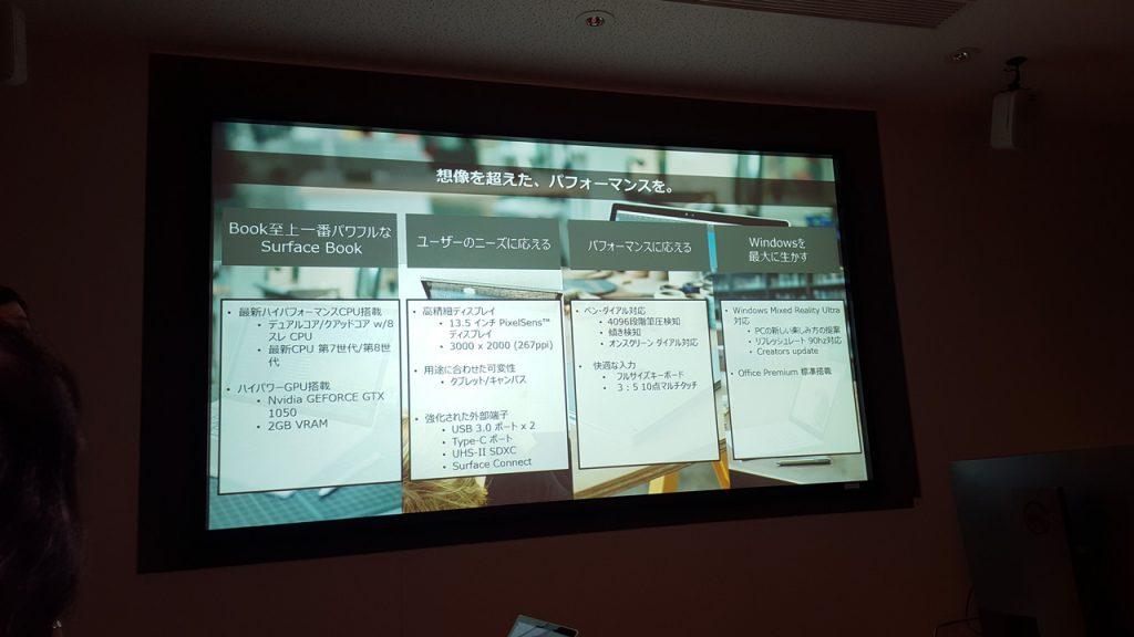 Surface Book 2、説明スライド