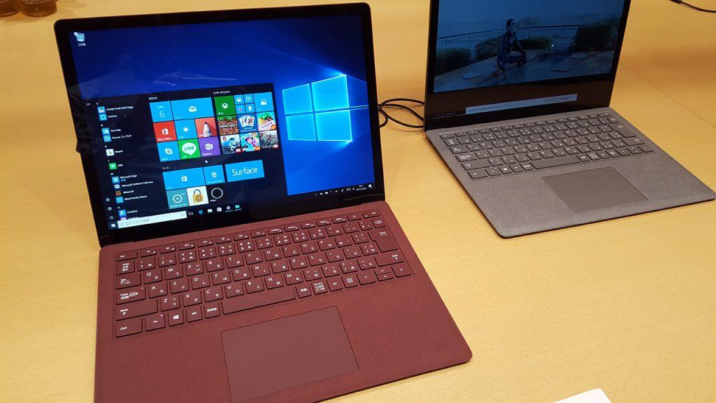 Surface Laptop、バーガンディ