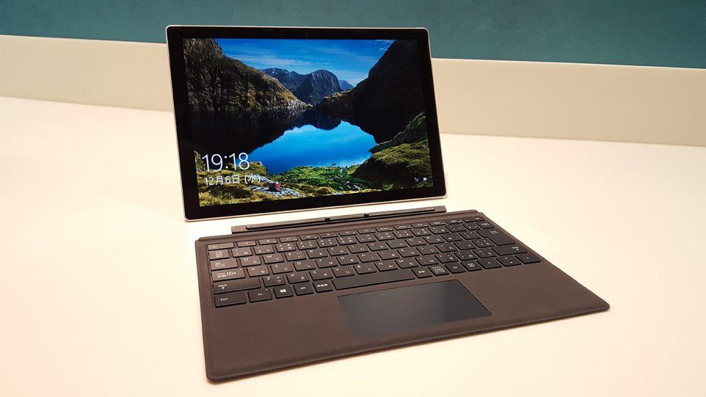 Surface Pro、タイプカバーとの組み合わせ